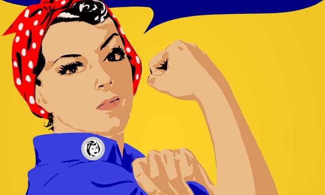 Mulheres olham de frente para o poder