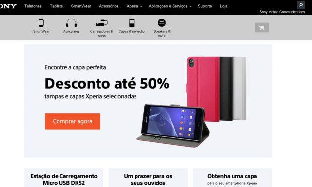 Sony Mobile tem loja online