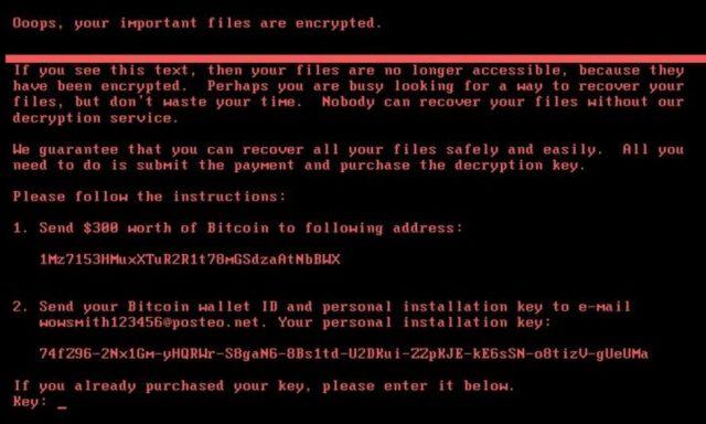 Software malicioso Petya afetou máquinas de 64 países