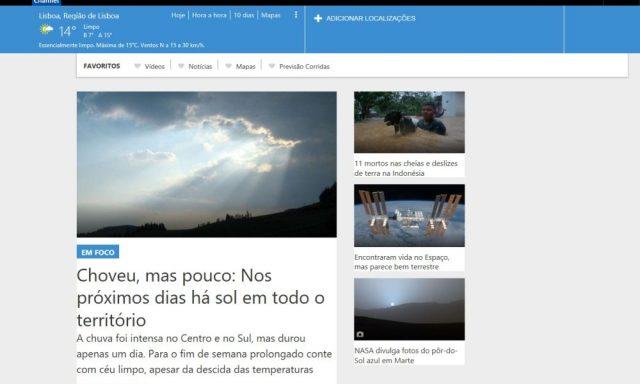 The Weather Company com parceria em Portugal para previsões meteorológicas personalizadas