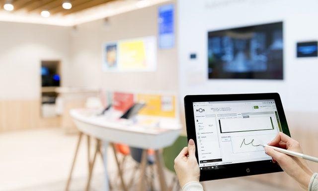 NOS leva transformação digital a 185 lojas e reduz ao mínimo uso de papel