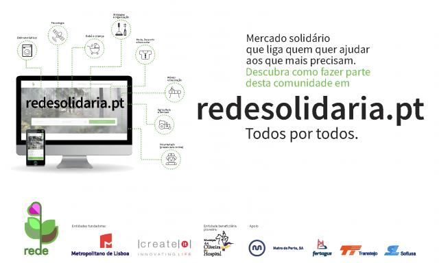 O lado solidário da REDE continua a ser explorado nas plataformas tecnológicas