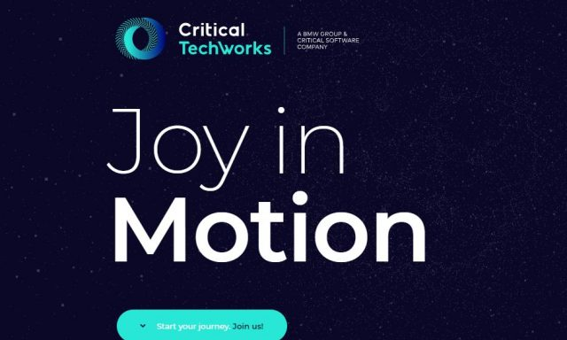 Critical Software juntou-se à BMW e nasceu a Critical Techworks